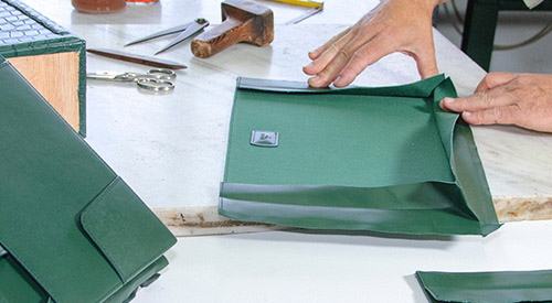 Assembling leather