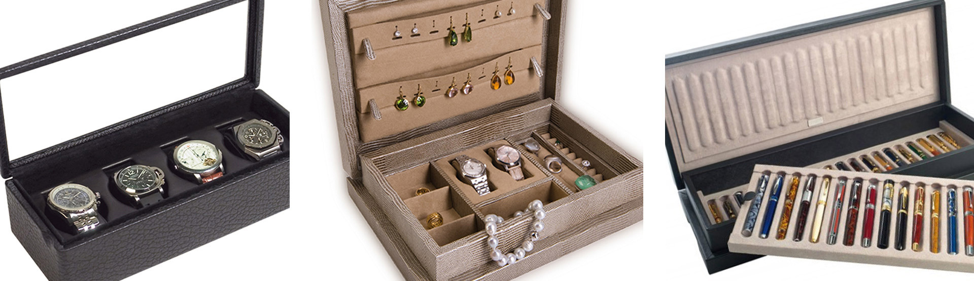 Watches and jewellery cases