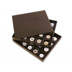 2 Stackable trays for 40 chain watches. Specially designed for collectors