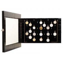 Wall display case for 32 chain watches. Specially designed for collectors