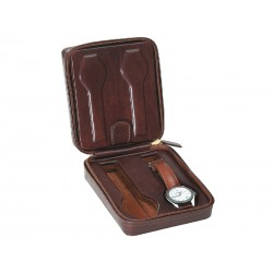 Leather Case/Travel Box for 4 flat-lying watches