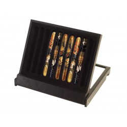 Box stand with glass cover for 10 NAMIKI EMPEROR fountain pens
