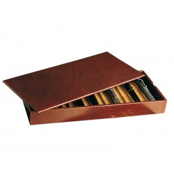 Stackable tray for 26 fountain pens