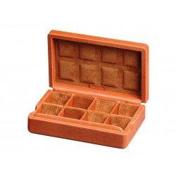 Case for 15 pairs of cufflinks arranged in different compartments