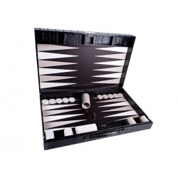 Medium Backgammon with leather handle