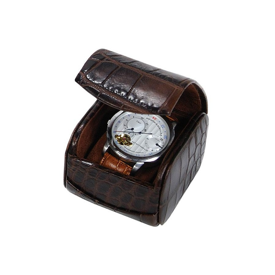Travel Box for one watch with a flexible cushion