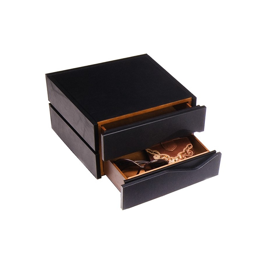 """Diary-box"", pocket emptier with 2 drawers"