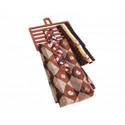 Closet neckerchief rack for 6 units