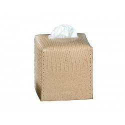 Cube tissue box with stitching XXXXXXX