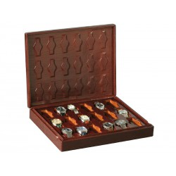 Case / Box for 18 special watches on flexible cushions in 1 section
