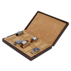 Case / Box for 12 watches on cushions with support pads