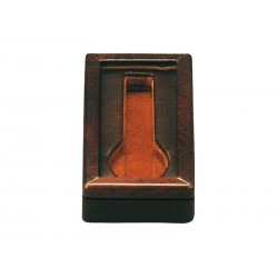 Box with a glass cover for 1 special flat-lying watch in 1 section