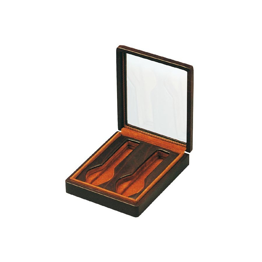 Box with a glass cover for 2 special flat-lying watches in 1 section