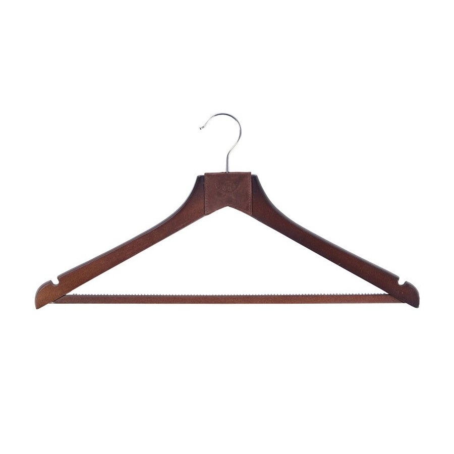 Hanger with notches for dresses and bar for pants (without lining)