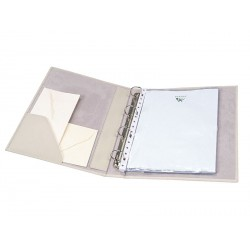 Ring binder folder with interior pocket for pages DIN A4