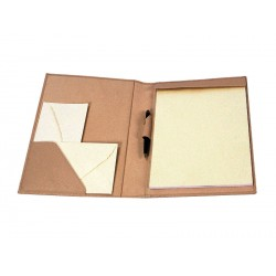 Stationery notepad folder DIN-A4 with interior pocket and pen loop