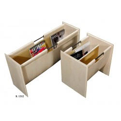Plain symmetric magazine rack
