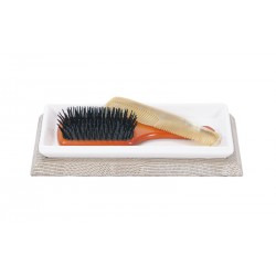 Ceramic tray for hairbrushes - Bathroom