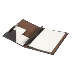 Folder for DIN-A4 fastened by 4 screws. It has an interior double canal with pressure access and interior pocket