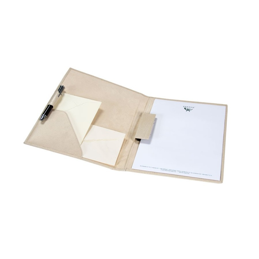 Folder with clip for pages DIN A4 with 1 pocket and pen loop