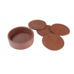 Closed set of 4 rigid circular coasters