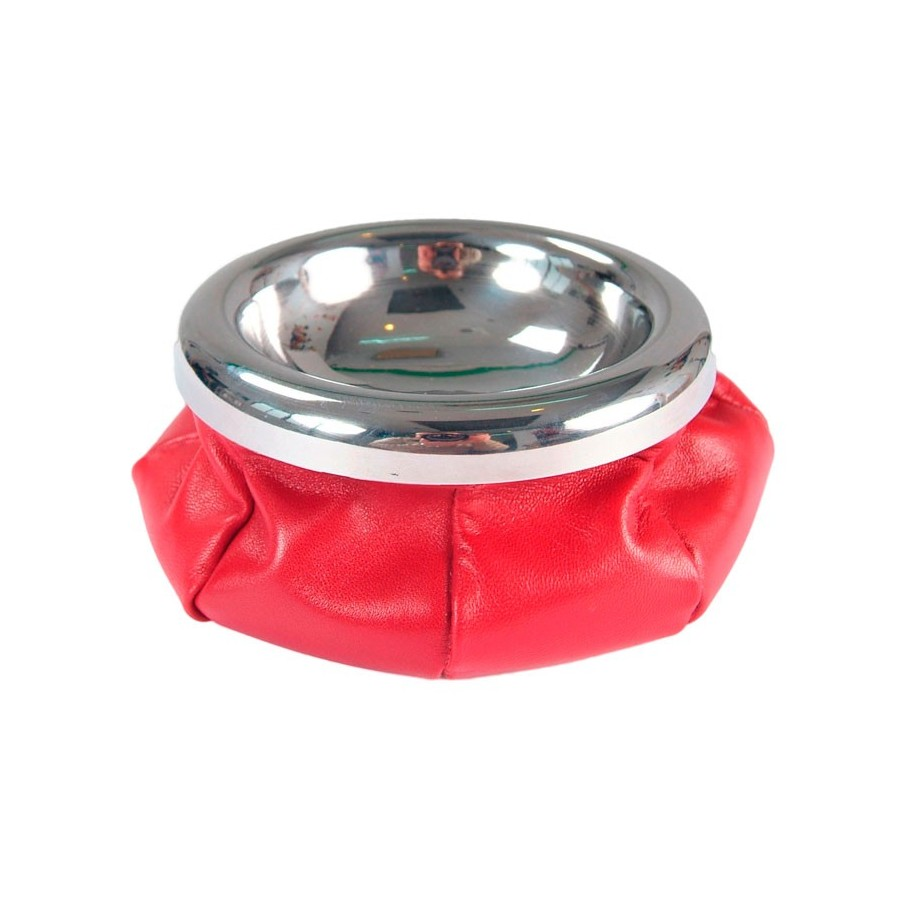 Circular stainless steel ashtray