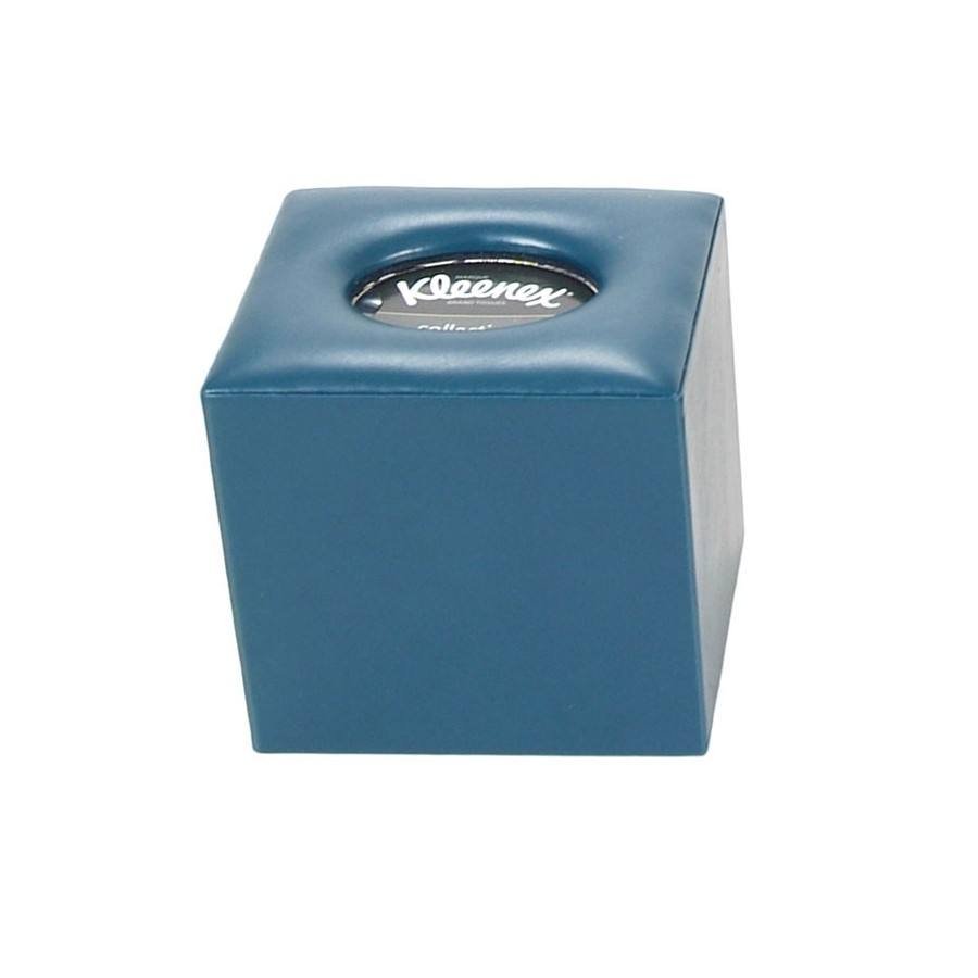 Square tissue box with opening in the base - Padded top