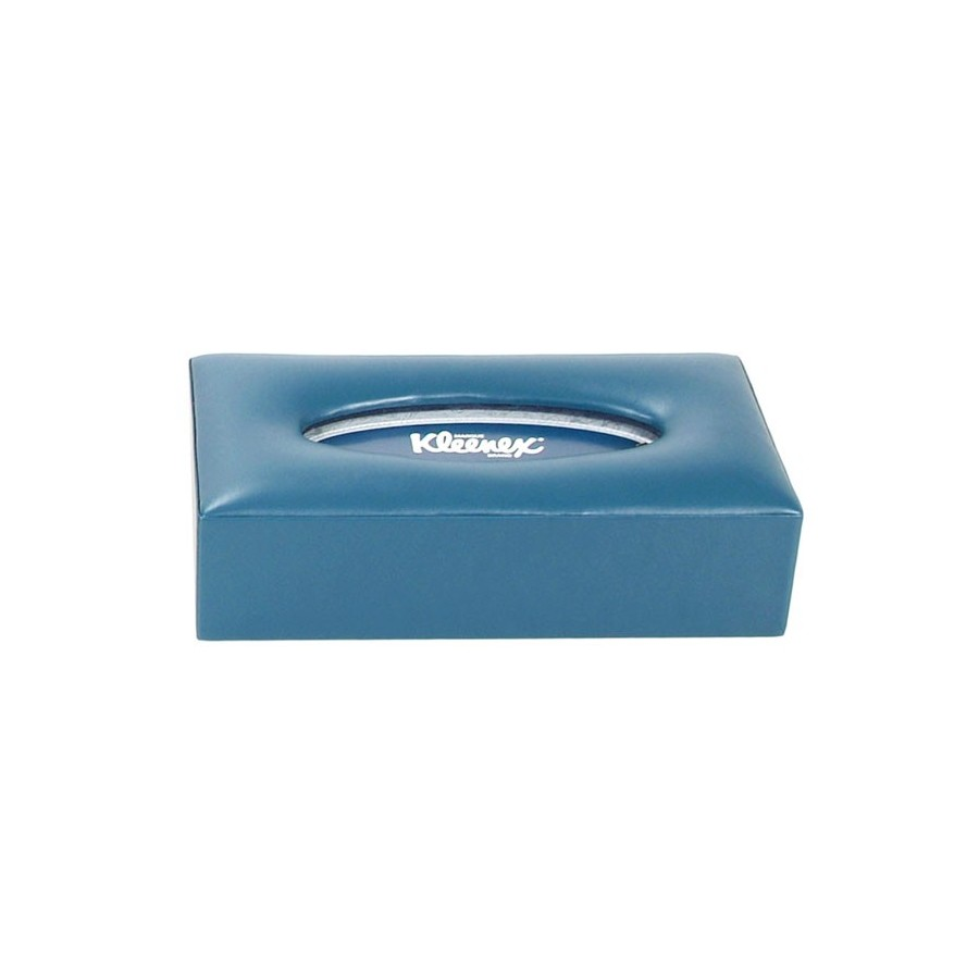 Rectangular tissue box with opening in the base - Padded lid