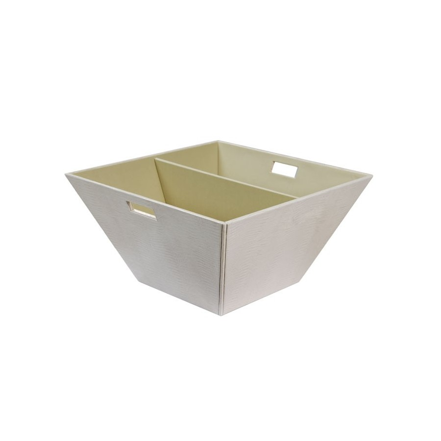 Large trapezoidal tray with handles and divider