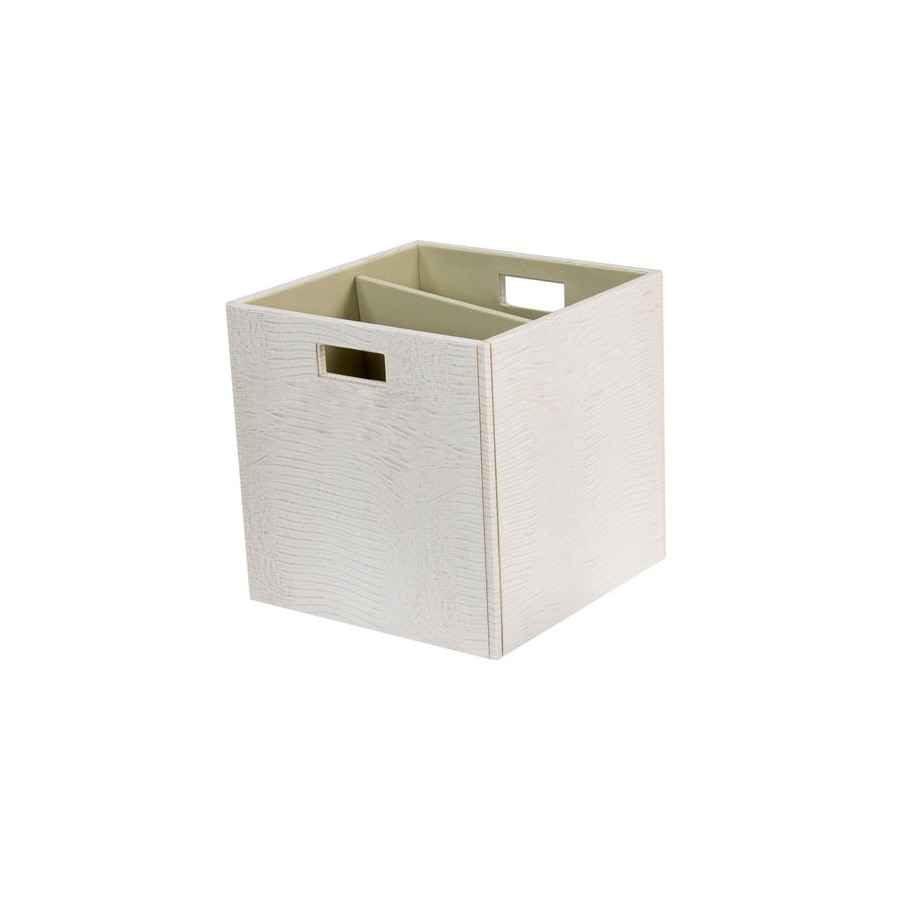 Square box with divider and without lid