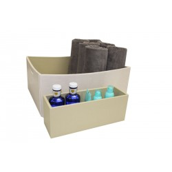 "Rectangular basket with handles for towels and a tray for lotions ""Yachts"""