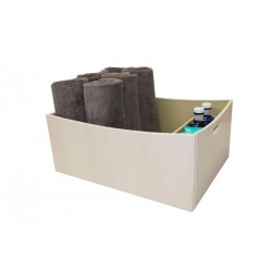 "Square basket with handles for towels and a tray for lotions ""Yachts"""
