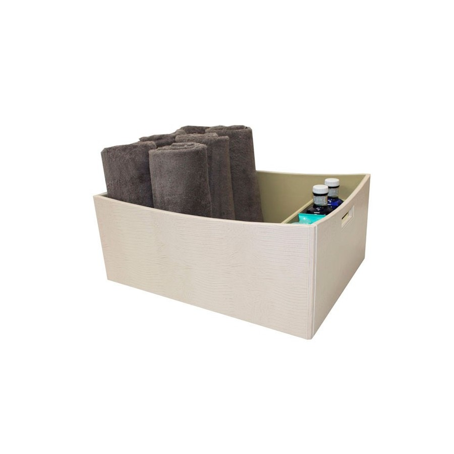 """Square basket with handles for towels and a tray for lotions """"Yachts"""""""