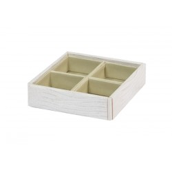 Square box with 4 dividers