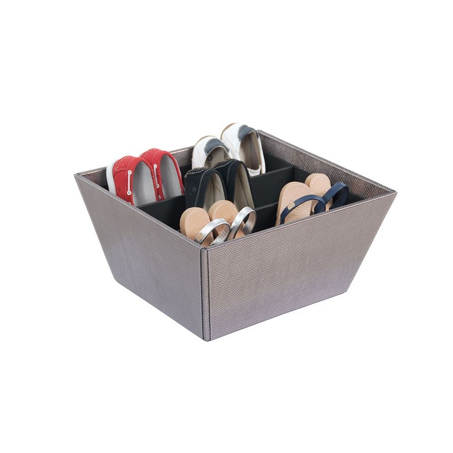 Basket to store shoes vertically