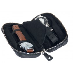 Travel case for 2 flat-lying watches - Special thickness