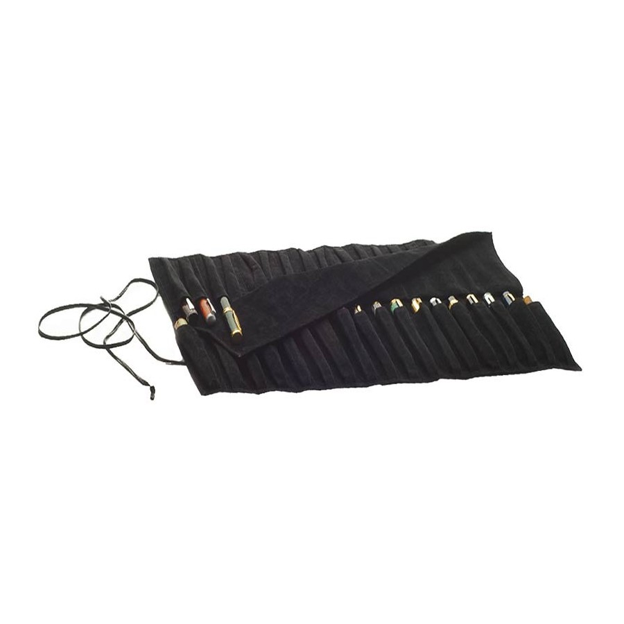 Fountain pen roll-up travel case for 36 fountain pens