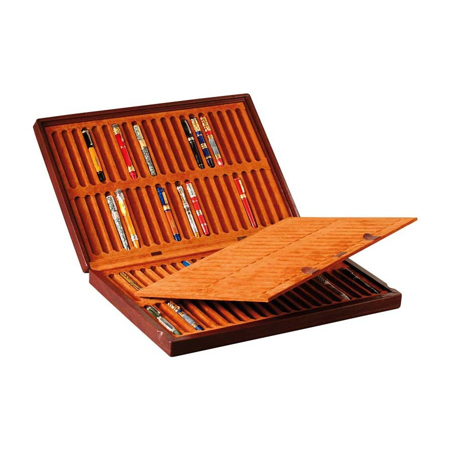 Case for 80 fountain pens on 2 trays