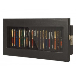 Display case for 20 fountain pens on 2 trays