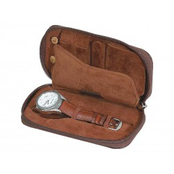 Travel jewel-watch case for men