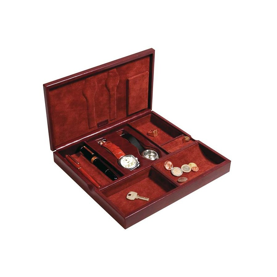 Jewel-watch case and emptier-organiser pocket for men