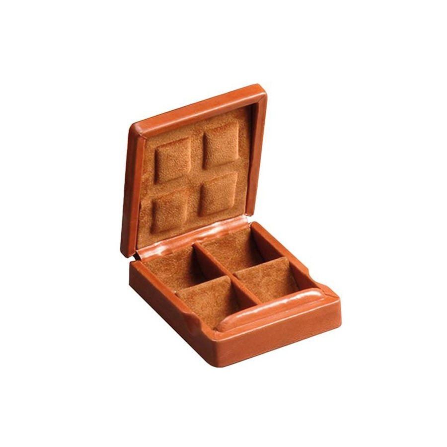 Case for 4 pairs of cufflinks arranged in different compartments