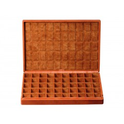 Case for 50 pairs of cufflinks arranged in different compartments