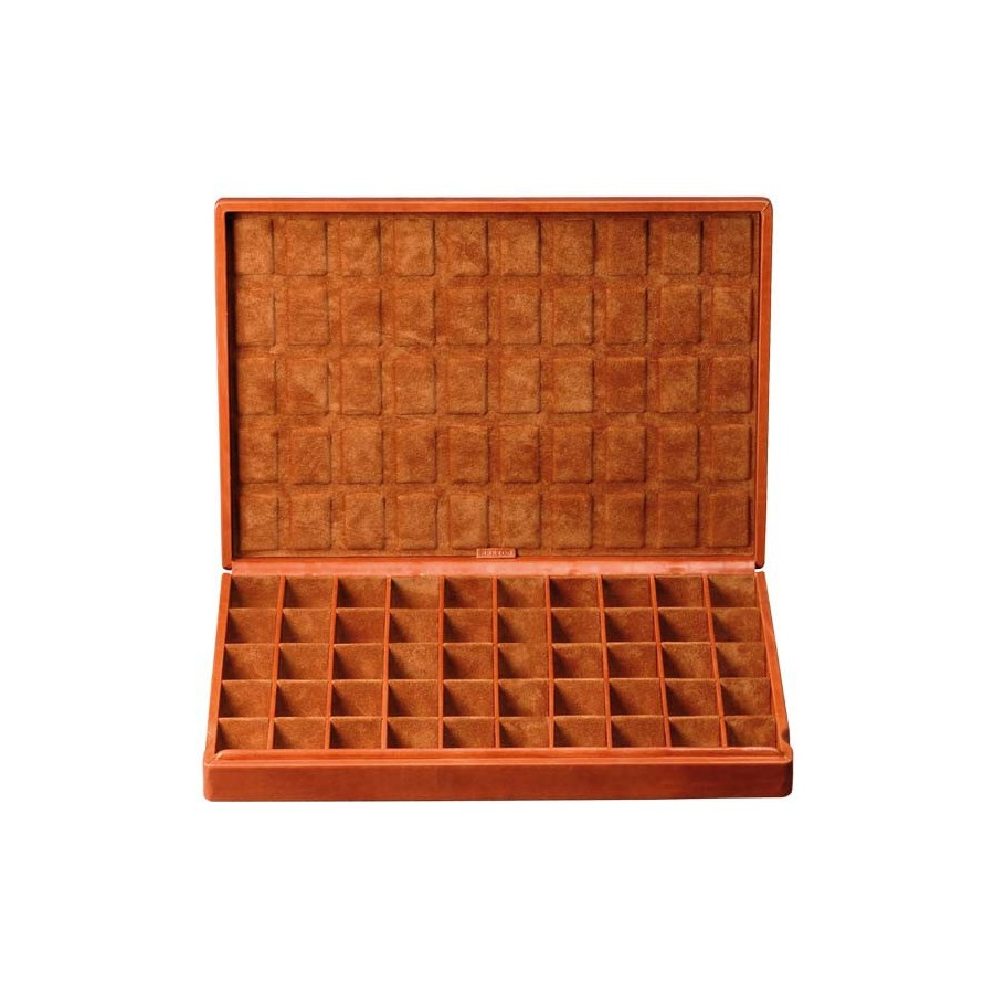 case for 50 pairs of cufflinks or earrings.