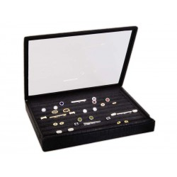 Case / Box for cufflinks with glass lid