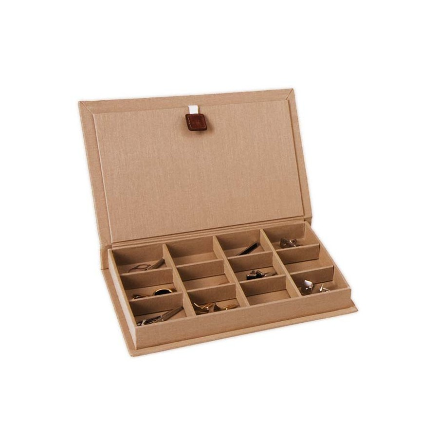 Case / Box for 12 pairs of cufflinks in different compartments