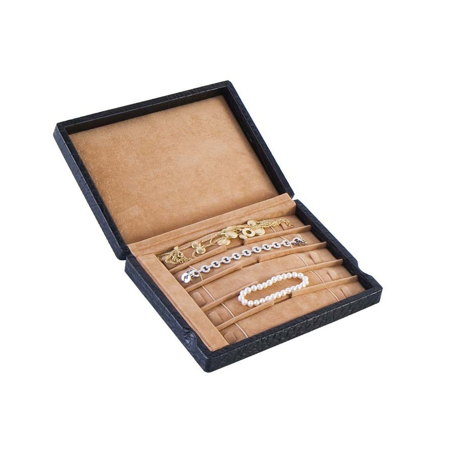 Display case for 5 flexible RIVIERE bracelets