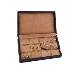 Display case for 12 pairs of short earrings