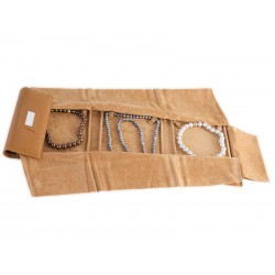 Banner style roll-up case for flexible necklaces