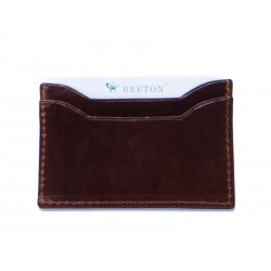 Flat card holder with 3 compartments